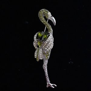 Jewelry - VINTAGE: Standing Green Flamingo Pin
